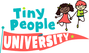 tiny people university childcare logo